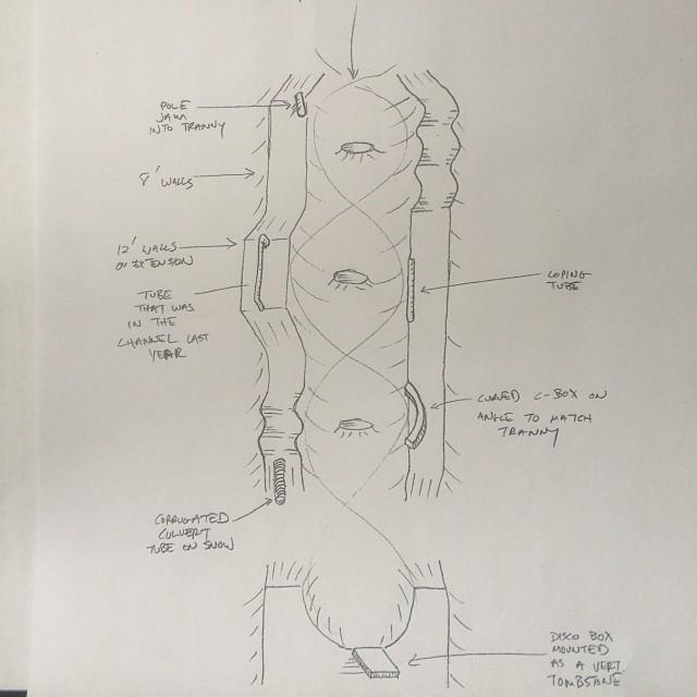 Lib Tech Near Canada Open course sketch for 2014